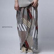重なりでつくるドレープの美しさで女性らしさを発揮。総柄スカート・(100)◎メール便可!