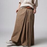 風合いをデザイン。立体感が増すタック使い。プリーツ風ロングスカート・##×メール便不可!