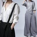 穿くだけで瞬時にモード感高まる2wayデザイン。2wayサロペスカート・2月23日20時〜発売。##×メール便不可!