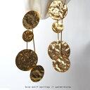 馴染みの良い煌きで品のよさを漂わせる。ゴールドサークルイヤリング・5月11日20時〜再販。(10)◎メール便可!
