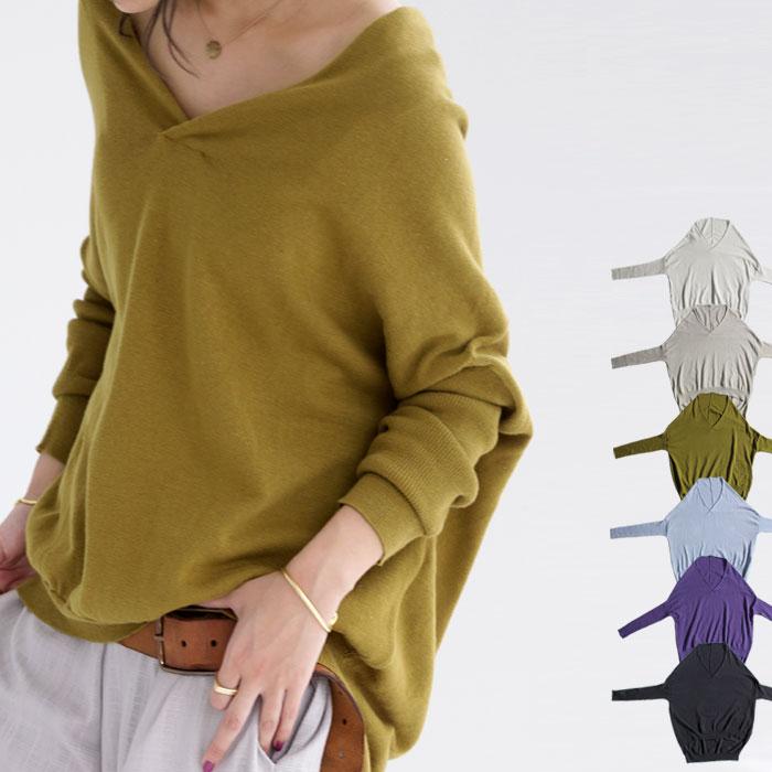 新色登場。全8色。上質cotton素材。ざっくりVネックリブ袖ニット・5月11日20時〜再再販。綿 「G」##×メール便不可!
