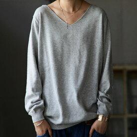 万能綿knit、最旬シルエットで完成。綿ニットトップス・9月10日0時〜再再販。メール便不可