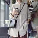 メンズライク。ゆるさでツクル、絶妙女っぽ見せ。ポケットデザインシャツ・9月30日0時〜再再販。(80)メール便可