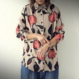 モダン。大人が着て映える花柄。花柄シャツ。・11月20日0時〜再再販。(50)メール便可