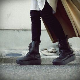 本革日本製。あの人気厚底ブーツの進化系。本革厚底ブーツ 送料無料・2月20日0時〜再再販。メール便不可