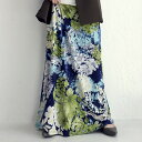鮮やかな色使い。一点投入でコーデが変わる。フラワーロングスカート・4月25日0時〜再再販。メール便不可 母の日(REV)