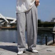 都会的モード。上品さのあるシックな装いで。プリーツアシメパンツ・(100)◎メール便可!