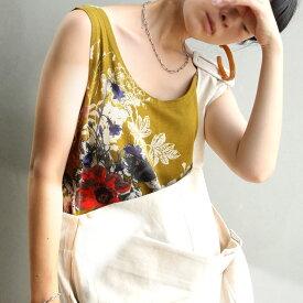 大人流アレンジ。大人気スカートのあの柄がタンクトップに。・7月24日10時〜再再販。アンティーク花柄タンクトップ。(100)メール便可(REV)