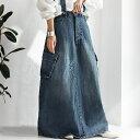 デニムサロペスカート カジュアルながらも大人っぽく仕立て、カッコ良く。 送料無料・6月24日10時〜再再販。メール便…