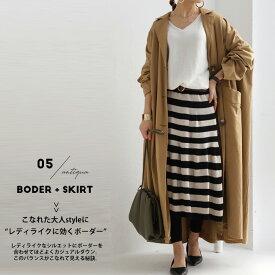 最強シルエット。大人女子が惚れる形で。ボーダーフレアスカート・1月18日20時〜再再販。「G」##×メール便不可!