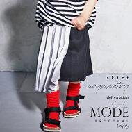 虜になるモードな雰囲気。シルバーアシメプリーツスカート・12月21日20時〜再販。シルバー×ブラックが目を引くアシンメトリーデザイン。##