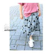 キッズ服とは思えない程雰囲気ある佇まい。ドットチェックアシメスカート・月日時〜発売。お洒落な柄とカタチ。##