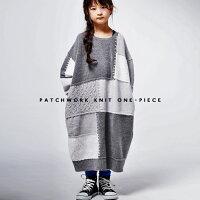 knitで作るパッチワークdesignがお洒落。切替ニットワンピ・10月27日20時〜発売。##