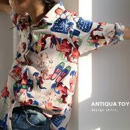 印象的な愛らしさと大人の遊び心。華やかなカラーで主役級。アート柄シャツ・月日20時〜発売。(30)◎メール便可!