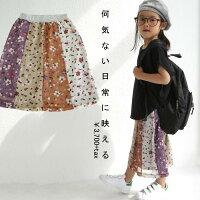 ヒラリと舞う裾に一目惚れ。花柄切替スカート・6月日20時〜発売。(50)◎メール便可!
