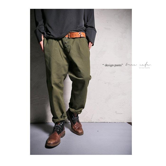 ボタンで印象をガラリと変える。デザインパンツ・1月13日20時〜再販。メンズ 綿##「G」