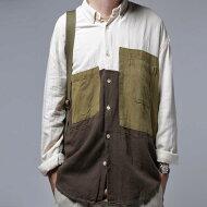 背伸びしないお洒落って。パッチワークデザインシャツ・##