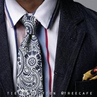 お洒落上級者。ハズシで使うがこなれた印象に。ペイズリー柄ネクタイ・##