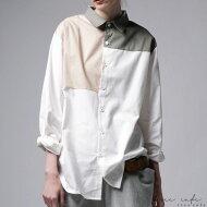 洗練されたカジュアルスタイルに品をプラス。ブロッキングシャツ・##×メール便不可!