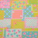 ☆ RetroMix ☆ lovely ( イエロー × ピンク ) 黄色 ラブリー 桃色 ローズ 小花 アップル かわいい パッチワーク 日…