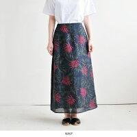 【MICA&DEAL/マイカアンドディール】ボタニカルマキシスカート