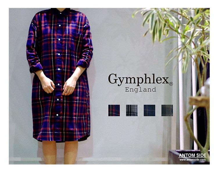 【Gymphlex / ジムフレックス】フランネル ルーズワンピース (J-1176VHC)