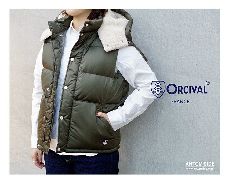 【ORCIVAL/ オーチバル オーシバル】ナイロン ダウンベスト(RC-8810TNN)