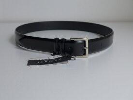 orciani【オルチアーニ】黒BLACKレザー3.0センチ幅やや細身の小ぶりシルバーバックルのベルト