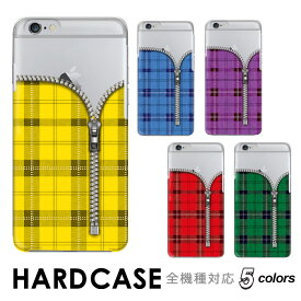 スマホケース 手帳型 全機種対応 ハード iphone xs max iphone xs iphone xr iPhone8 iPhone8 Plus iPhoneX アイフォンテン ハード Xperia XZ Xperia Z5 SO-01J SO-02J SC-04J SHV39 タータンチェック ジッパー おしゃれ