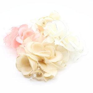 コサージュ パーティー 結婚式 フォーマル ヘアアクセサリー ヘアアクセ アクセサリー ホワイト ピンク セレモニー パール付き バッグ ビジュー ブローチ 花 フラワー 二次会 母の日 プレゼ