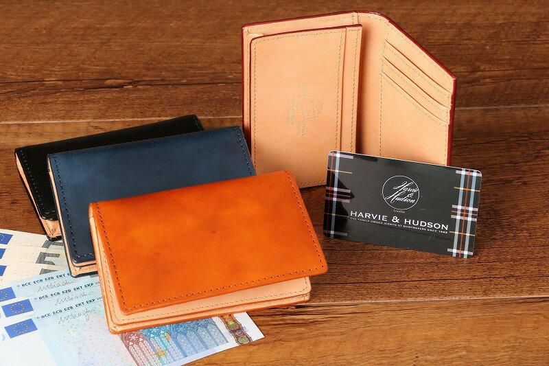 【牛革・名刺入・メンズ】 HARVIE&HUDSON イタリアキャピタルレザー カードケース 名刺入れ HA-5004【あす楽対応】