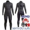 『セミドライスーツ』AND NEW YOU 2020 限定モデル5mm 3mm セミドライ スーツ バックジップ メンズ 男性用 サーフィン ウェットスーツ ウ...