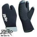 TG-531 ZERO ゼロ ダイビング グローブ ミトン ミトングローブTG サーモグローブ 手袋 5ミリ 5mm 3本指