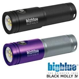 BIGBLUE ビッグブルー 水中ライト LED BLACK MOLLY 4 ブラックモリー4ダイビング ライト ストロボ ランタン AL-1800XWP TRI COLOR2電池式 100M完全防水 1800ルーメン