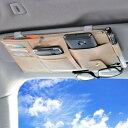 選べる3色【Anytime】 車 サンバイザー 収納 車内 収納ポケット 多機能 小物入れ PU カー用品 カーアクセサリー C…