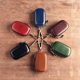 6color 本革のスマートキーケース キーリング 車 レディース/メンズ カジュアル キーホルダー 小物 レザーキーケース 【Anytime】