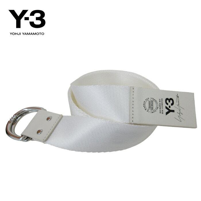 11/15再入荷 Y-3【ワイスリー】Y-3 LOGO BELT【ロゴ ベルト】【WHITE】【CY3535】Yohji Yamamoto adidas ナイロン ダブルリング ブランド ユニセックス ロゴ ワンポイント モード ストリート 人気 オススメ ホワイト ギフト プレゼント あす楽対応