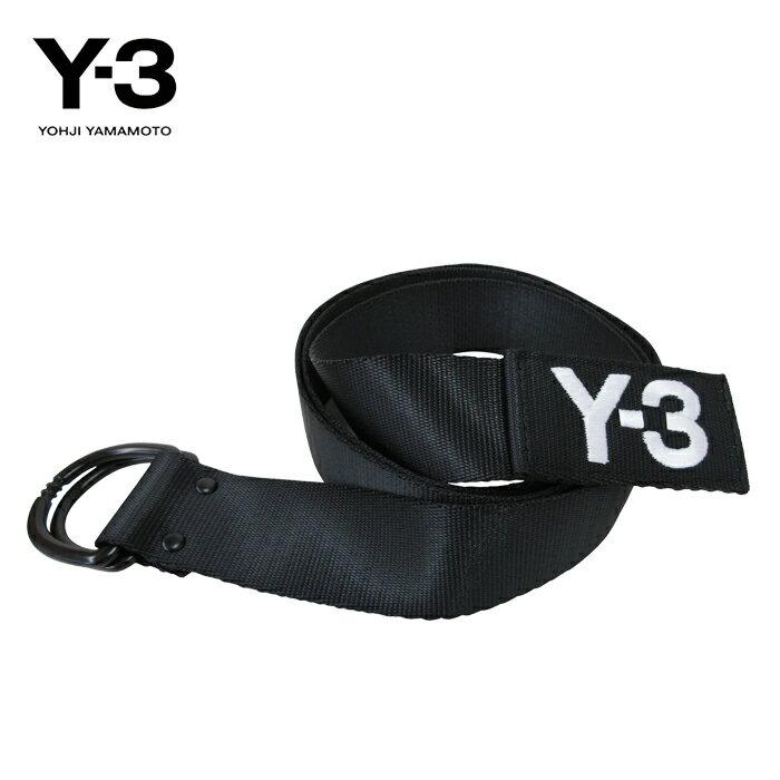 大人気 Y-3【ワイスリー】Y-3 LOGO BELT【ロゴ ベルト】【BLACK】【CY3532】Yohji Yamamoto adidas ナイロン ダブルリング ブランド ユニセックス ロゴ ワンポイント モード ストリート 2018 ブラック ギフト プレゼント 誕生日 バレンタイン あす楽対応