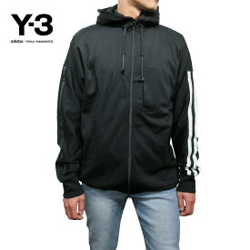 Y-3【ワイスリー】メンズ ジップパーカー【Y-3 3-STRIPES HOODIE】【CY6954】【BLACK/WHITE】Yohji Yamamoto adidas ヨウジヤマモト アディダス TOPS SWEAT HOODIE スウェット ブラック 黒 あす楽対応