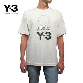 Y-3【ワイスリー】メンズ ロゴTシャツ【M STACKED LOGO SS TEE】【DP0478】【CHAMPAGNE】Yohji Yamamoto adidas ヨウジヤマモト アディダス TEE 半袖 ホワイト 白 あす楽対応