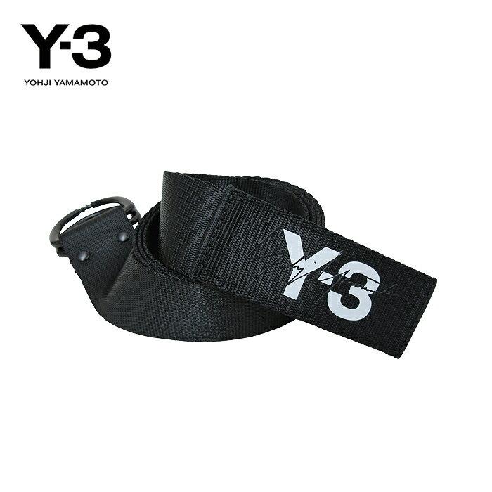 2019SS最新作 Y-3【ワイスリー】Y-3 LOGO BELT【ロゴ ベルト】【BLACK】【DY0523】Yohji Yamamoto adidas ヨウジヤマモト アディダス ナイロン ダブルリング ブランド ユニセックス ロゴ ワンポイント モード ストリート ブラック 黒 あす楽対応