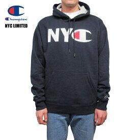 ニューヨーク限定モデル Champion【チャンピオン】スウェットプルオーバーパーカー【CHAMPION NYC MOSAIC MENS HOODIE】【NAVY】NYCモザイク メンズ フリース フーディー NYC限定 海外限定 ネイビー あす楽対応