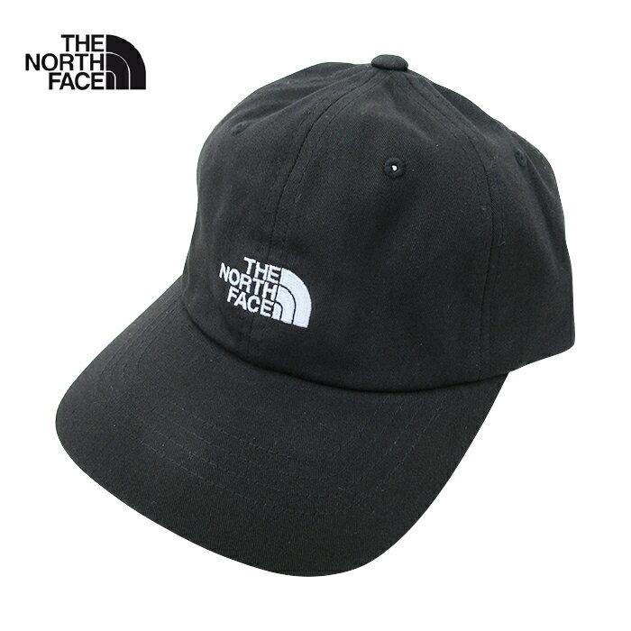 U.S.A.企画 THE NORTH FACE【ザ・ノースフェイス】コットン 6パネルキャップ【THE NORM HAT】【BLACK/WHITE】帽子 CAP ワンポイント ロゴ キャップ アウトドア ストリート 男女兼用 メンズ レディース ブラック ホワイト 黒 白 あす楽対応