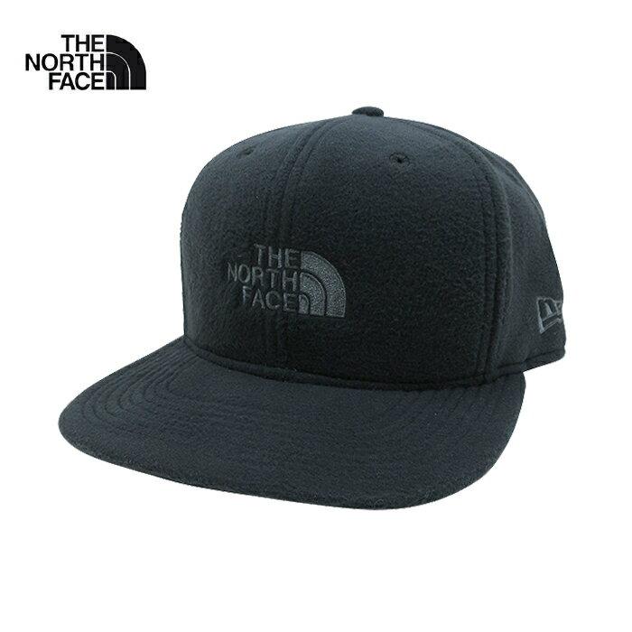 U.S.A.企画 THE NORTH FACE × NEW ERA 9FIFTY STRAPBACK CAP【ザ・ノースフェイス × ニューエラ】フリース ストラップバックキャップ【TNF BLACK/ASPHALT GRAY】帽子 CAP ワンポイント ロゴ キャップ 男女兼用 メンズ レディース ブラック あす楽対応