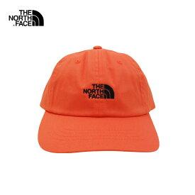 U.S.A.規格 THE NORTH FACE(ザ・ノースフェイス)コットン 6パネルキャップ(THE NORM HAT)(PERSIAN ORANGE/TNF BLACK)帽子 CAP ワンポイント ロゴ キャップ アウトドア ストリート 男女兼用 メンズ レディース オレンジ ブラック あす楽対応 レターパック対応