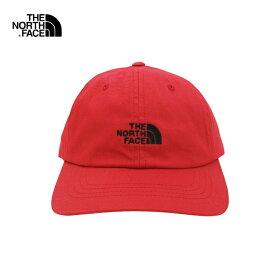 U.S.A.規格 THE NORTH FACE(ザ・ノースフェイス)コットン 6パネルキャップ(THE NORM HAT)(TNF RED/TNF BLACK)帽子 CAP ワンポイント ロゴ キャップ アウトドア ストリート 男女兼用 メンズ レディース レッド ブラック 赤 黒 あす楽対応 レターパック対応