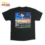 【NEWデザイン】カリフォルニア直輸入IN-N-OUTBURGER【インアウトバーガー】プリントTシャツ【2013/NowandThen】【BLACK】半袖プリントオフィシャルアイテムオフィシャルライセンスTシャツ新品正規ブラック黒あす楽対応