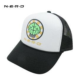 N.E.R.D OFFICIAL TRUCKER CAPオフィシャル トラッカーキャップ(BLACK/WHITE)メッシュキャップ メンズ レディース 男女兼用 ユニセックス キャップ 帽子 ブラック ホワイト PHARRELL WILLIAMS ファレル ウィリアムス あす楽対応
