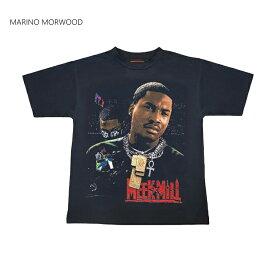 MARINO MORWOOD(マリノモアウッド)プリントTシャツ(MEEK MILL DREAMCHASERS T-SHIRT)(BLACK)新品 半袖 ブラック 黒 RAPTEE HIPHOP ミークミル あす楽対応 レターパック対応
