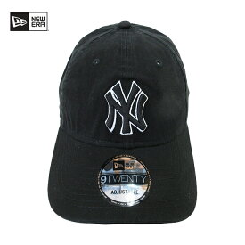 NEWERA【ニューエラ】9TWENTY キャップ【NEW YORK YANKEES/ニューヨーク ヤンキース】【BLACK】MLB NEW ERA 帽子 メンズ レディース ローキャップ サイズ調整 コットンキャップ ブランド メンズキャップ ダンス ダンサー 衣装 ブラック 黒 あす楽対応